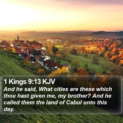 1 Kings 9:13 KJV Bible Verse Image