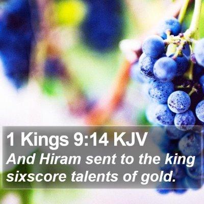 1 Kings 9:14 KJV Bible Verse Image