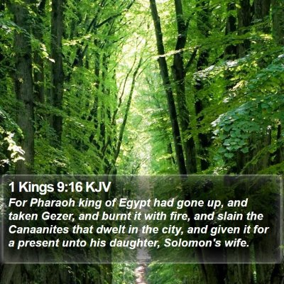 1 Kings 9:16 KJV Bible Verse Image