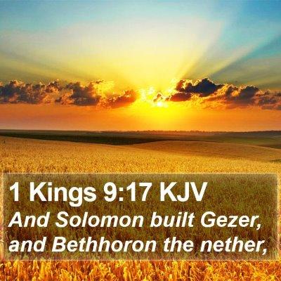 1 Kings 9:17 KJV Bible Verse Image