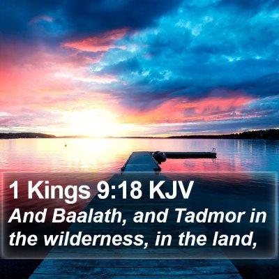 1 Kings 9:18 KJV Bible Verse Image