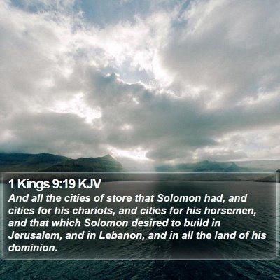 1 Kings 9:19 KJV Bible Verse Image