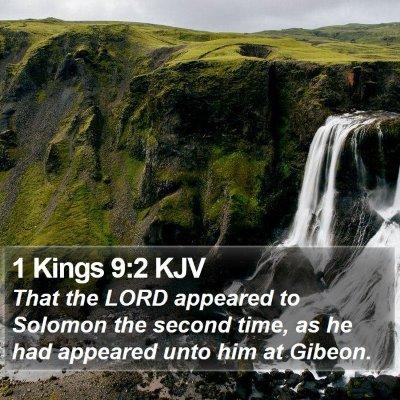 1 Kings 9:2 KJV Bible Verse Image