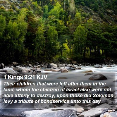 1 Kings 9:21 KJV Bible Verse Image