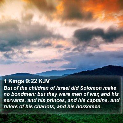 1 Kings 9:22 KJV Bible Verse Image