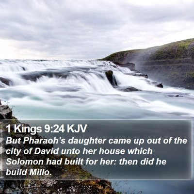 1 Kings 9:24 KJV Bible Verse Image