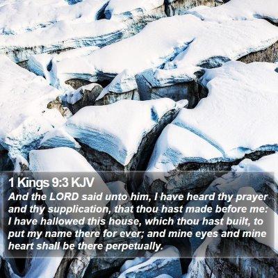 1 Kings 9:3 KJV Bible Verse Image