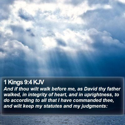 1 Kings 9:4 KJV Bible Verse Image