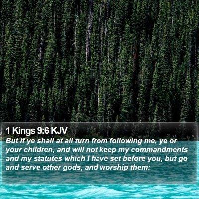 1 Kings 9:6 KJV Bible Verse Image