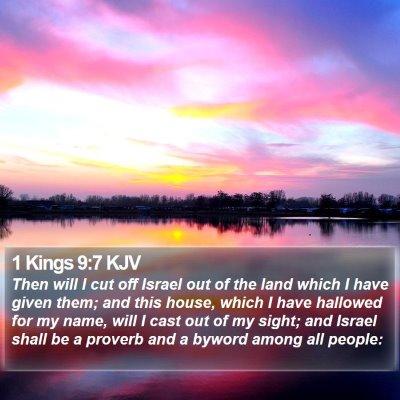 1 Kings 9:7 KJV Bible Verse Image