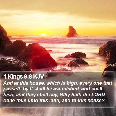 1 Kings 9:8 KJV Bible Verse Image