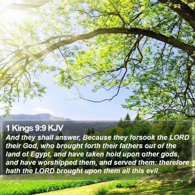 1 Kings 9:9 KJV Bible Verse Image