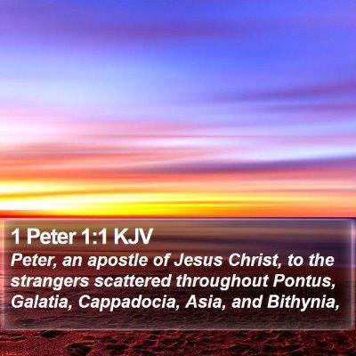 1 Peter 1:1 KJV Bible Verse Image