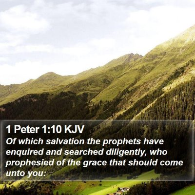 1 Peter 1:10 KJV Bible Verse Image