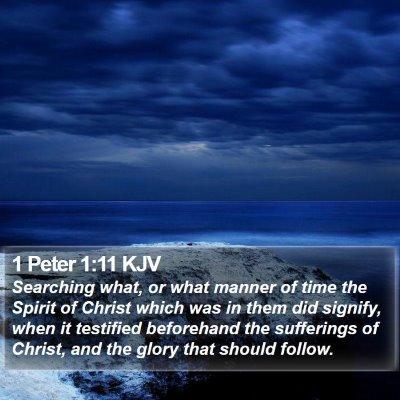 1 Peter 1:11 KJV Bible Verse Image