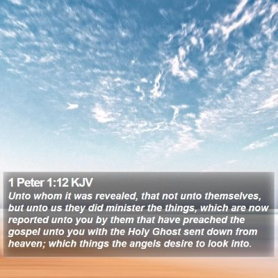 1 Peter 1:12 KJV Bible Verse Image