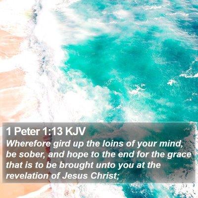 1 Peter 1:13 KJV Bible Verse Image