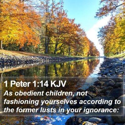 1 Peter 1:14 KJV Bible Verse Image