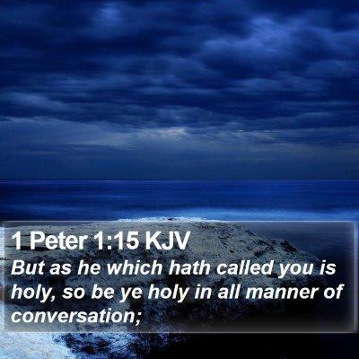 1 Peter 1:15 KJV Bible Verse Image