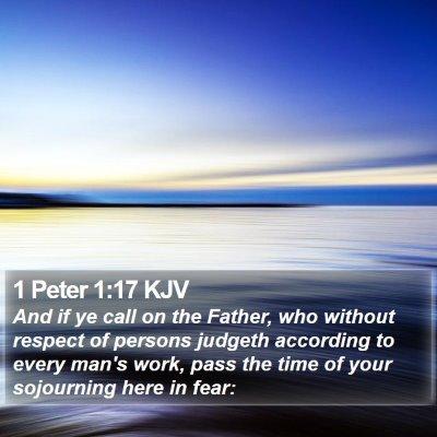 1 Peter 1:17 KJV Bible Verse Image