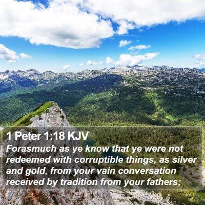 1 Peter 1:18 KJV Bible Verse Image