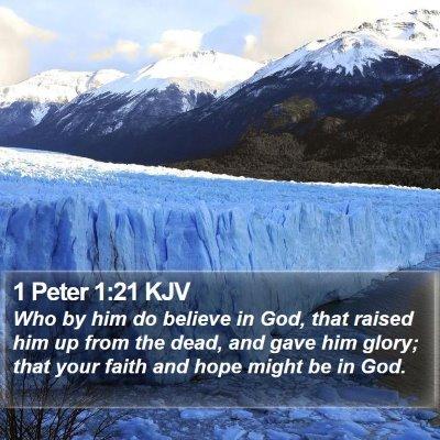 1 Peter 1:21 KJV Bible Verse Image