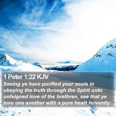 1 Peter 1:22 KJV Bible Verse Image
