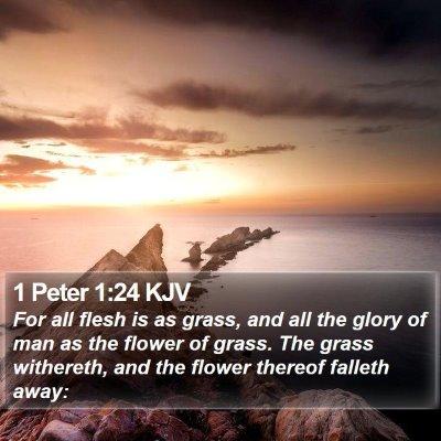 1 Peter 1:24 KJV Bible Verse Image