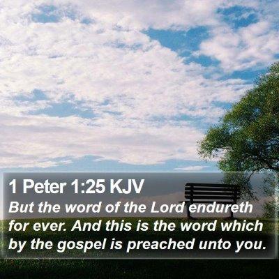 1 Peter 1:25 KJV Bible Verse Image