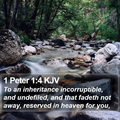 1 Peter 1:4 KJV Bible Verse Image
