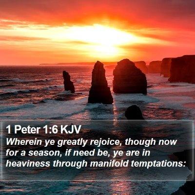 1 Peter 1:6 KJV Bible Verse Image