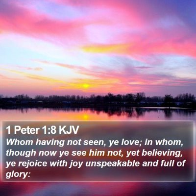 1 Peter 1:8 KJV Bible Verse Image