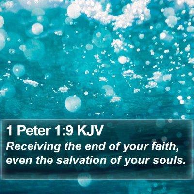 1 Peter 1:9 KJV Bible Verse Image