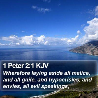 1 Peter 2:1 KJV Bible Verse Image