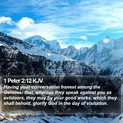1 Peter 2:12 KJV Bible Verse Image