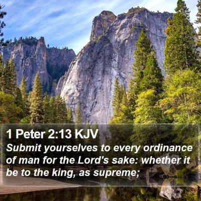 1 Peter 2:13 KJV Bible Verse Image