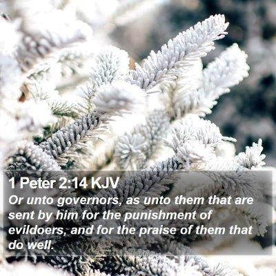 1 Peter 2:14 KJV Bible Verse Image