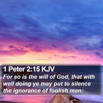 1 Peter 2:15 KJV Bible Verse Image