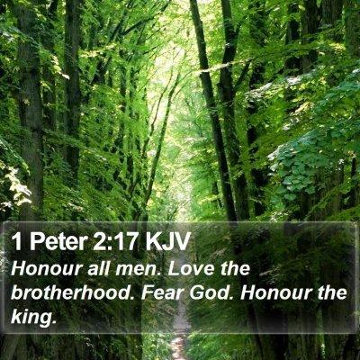 1 Peter 2:17 KJV Bible Verse Image