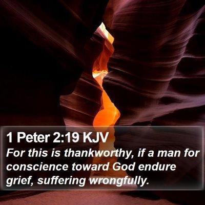 1 Peter 2:19 KJV Bible Verse Image