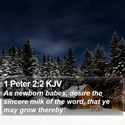 1 Peter 2:2 KJV Bible Verse Image