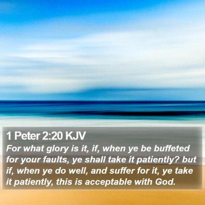 1 Peter 2:20 KJV Bible Verse Image