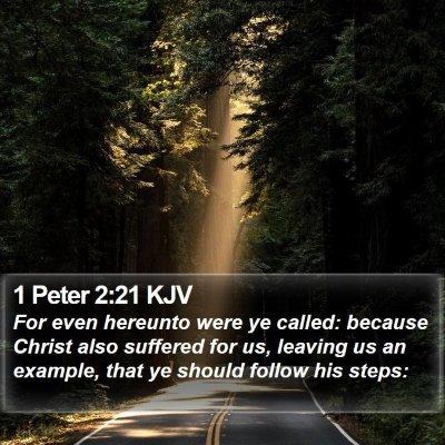 1 Peter 2:21 KJV Bible Verse Image