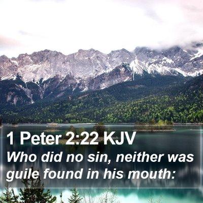 1 Peter 2:22 KJV Bible Verse Image