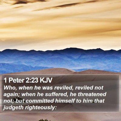 1 Peter 2:23 KJV Bible Verse Image