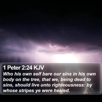 1 Peter 2:24 KJV Bible Verse Image