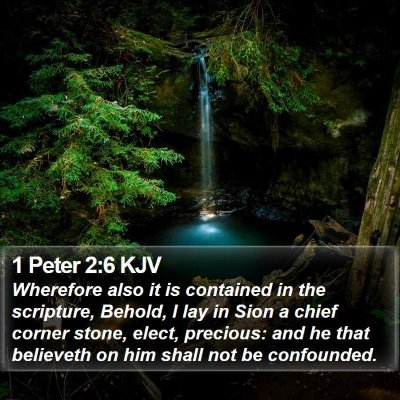 1 Peter 2:6 KJV Bible Verse Image