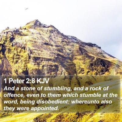 1 Peter 2:8 KJV Bible Verse Image