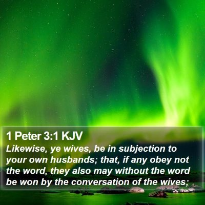 1 Peter 3:1 KJV Bible Verse Image