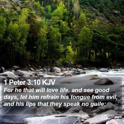 1 Peter 3:10 KJV Bible Verse Image